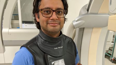 Surgeon Paul Bhogal led the operation. Picture: Barts Health NHS Trust
