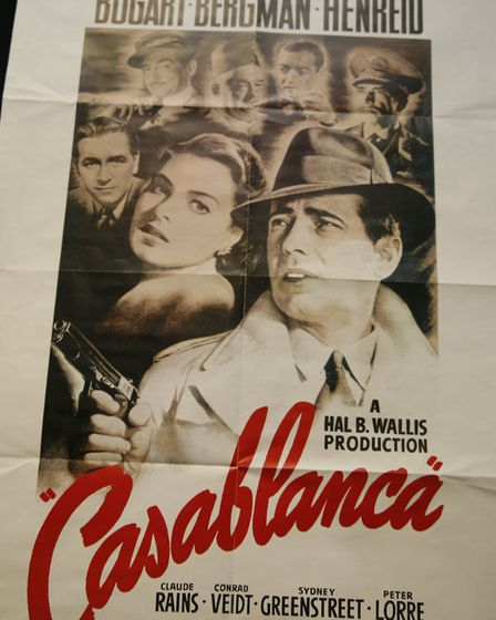 The flicks in the Blitz... Silver screen is showing Casablanca with Humphrey Bogart and Ingrid Bergm