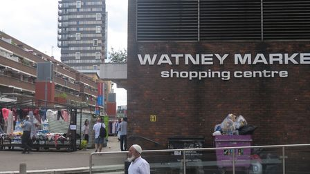 Within walking distance... Covid centre at Watney Market for those living around Shadwell, Wapping,