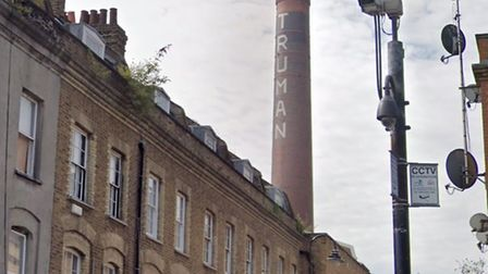 Truman's iconic 150ft chimney was meant to herald arts world reboot after lockdown. Picture: Google