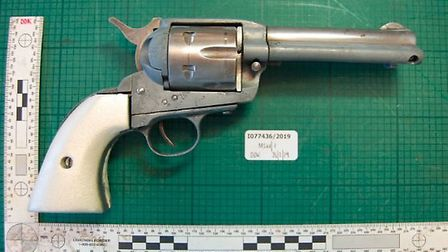 Latif was found in possession of this revolver. Picture: City of London Police