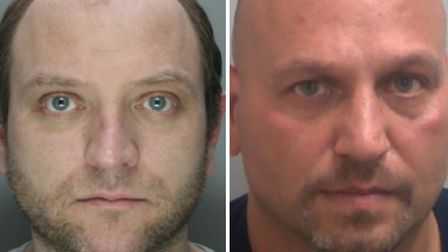 L-R: William Fullerton, of Bromley by Bow, and Barry Latif of Shadwell have were sentenced at Inner