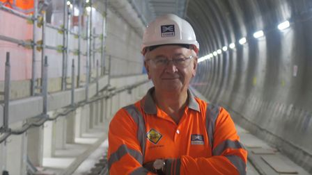 Proud Crossrail chief Terry Morgan at Whitechapel... before having to step down in row with City Hal