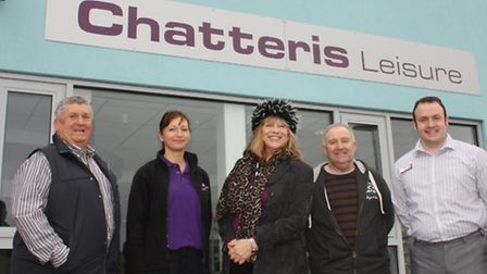 Cllr Pop Jolley, Bernadette Gipson, Sue Marchant, Cllr Alan Melton and Andy Cornwell