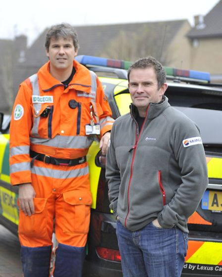 (right) Explorer Justin Miles was saved while in the Arctic by Magpas (left) Dr Rod Mackenzie - over