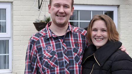 John Wood and his fiancée Claire Upton. Picture: Steve Williams
