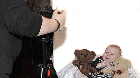 Tyler-James, aged three months, has his picture taken for this year's competition.