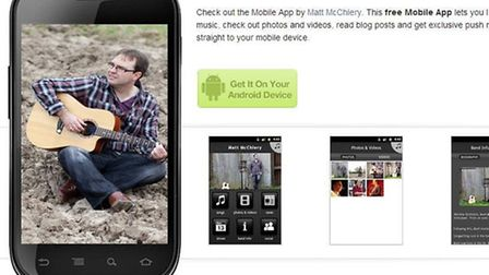 Wisbech musician Matt McChlery has created his own mobile app
