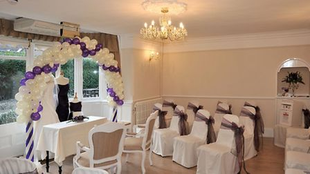 The ceremony room at Audmoor House.