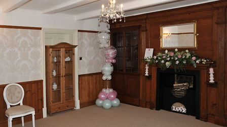 The bride's room at Audmoor House.