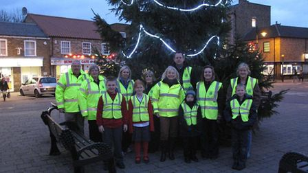 Children wearing the reflective jackets supplied by Wisbech and District Lions,