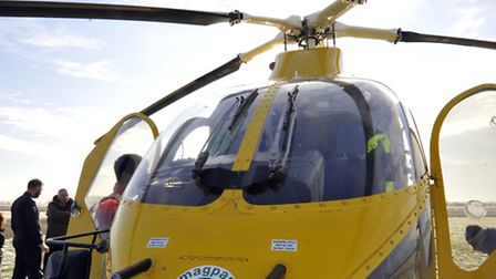 The Magpas helicopter.