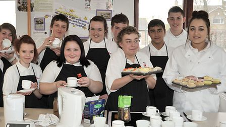 Neale Wade Year10 BTEC students put on a tea party for FACET students and teachers.