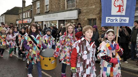 Straw Bear parade 2013. Whittlesey. Picture: Steve Williams