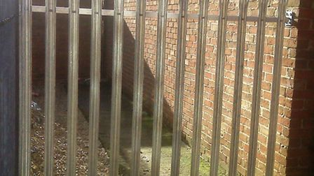 The alleyway has been closed off in Church Mews, Wisbech.