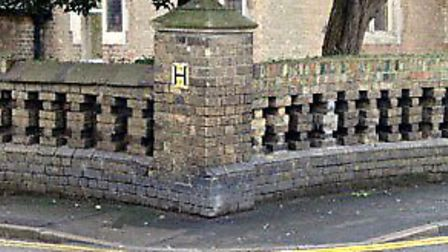 Proposed replacement wall at Our Lady and Charles Church, Queens road Wisbech.