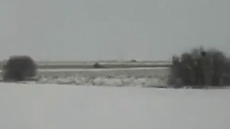A train journey from March to Wisbech capturing snow-covered Fenland