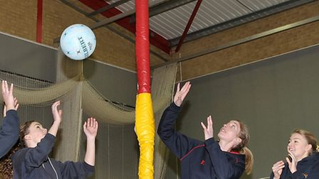 Olivia Murphy- England woman netball player ran a training session with 1st team from Wisbech Gramma
