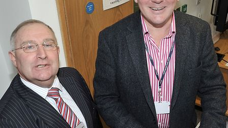 Launch of the Wisbech 2020 Vision. Left: Cllr Alan Melton and Cllr Nick Clarke