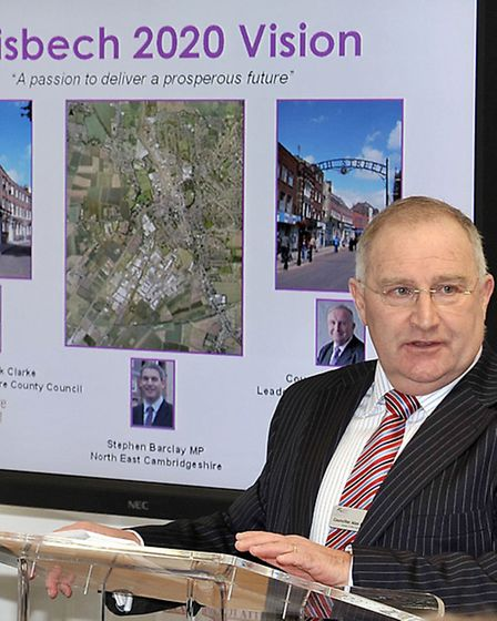 Launch of the Wisbech 2020 Vision. Cllr Alan Melton.