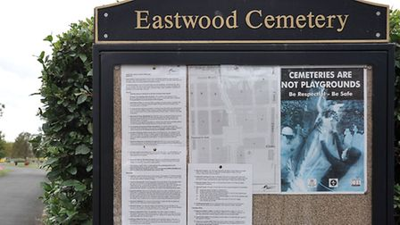 Eastwood Cemetery, March.