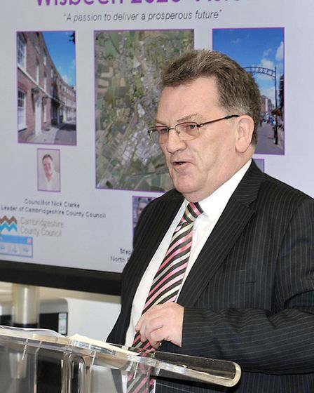 Launch of the Wisbech 2020 Vision. Wisbech Standard Editor John Elworthy.