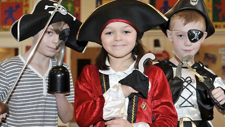 St Peter's Junior School, Wisbech. Year 4 pirate day. Picture: Steve Williams.
