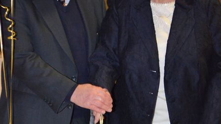 Neville and Pauline Frusher, who celebrated their golden wedding anniversary on Saturday