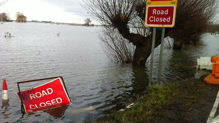 Flooding at the B1040 Whittlesey Wash