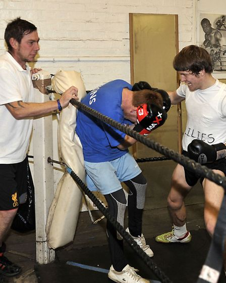 Chatteris Town training at boxing club. Picture: Steve Williams.