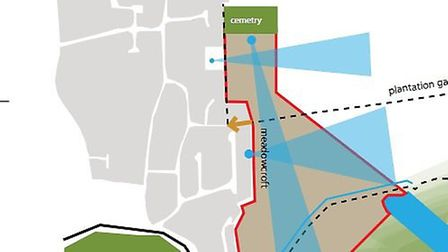 A plan of the new community land trust housing