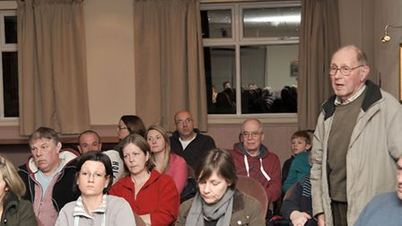 Public meeting at the Oliver Cromwell Hotel about Wimblington Rd speeding.