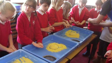 Pupils at St Andrews School learn how to make pizzas