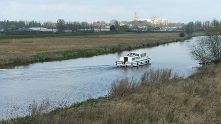 The existing view of Ely Cathedral, from near Newmarket rail bridge.