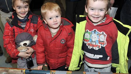 March & District Model Railway Club exhibition. Brothers Dominic, Aiden and Barnabas Wilson.