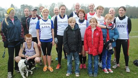 Fenland Running Club members before the final Frosbite Friendly League race.