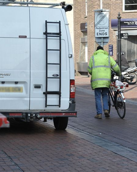 Cyclists in and around Ely city centre