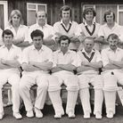 Trevor, back row, third right, lines up with Wisbech Town Cricket Clubs first team in 1973.