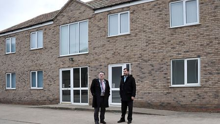 Editor John Elworthy with Peter Grice of PG Packaging, Coates, Whittlesey.
