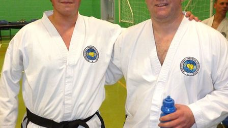 Stuart Murat, left, was pipped to the gold by Justin Grey.
