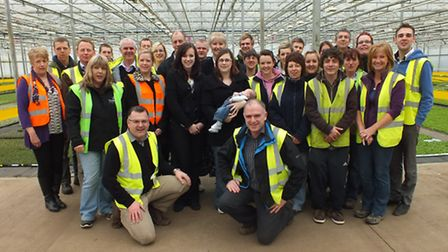 Members of the Atter family with Delamore's Great East Anglia Run team