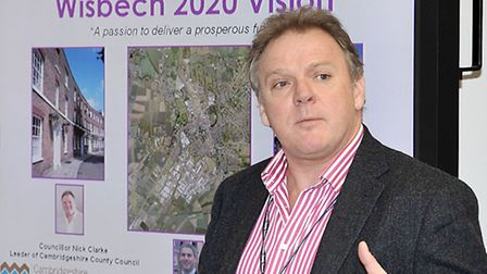 Launch of the Wisbech 2020 Vision. Cllr Nick Clarke.