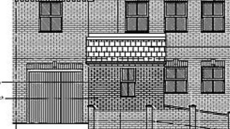 Drawings showing the extension at The Hythe, Littleport
