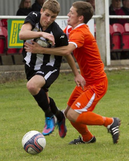 Jackson rounds a defender in action for Swaffham this season.