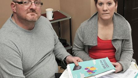 Craig and Kim Howlett of Wisbech trying to find new accommodation.