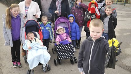 Residents of Benwick are fed up of the dog mess on the pavements around the school in Benwick, (fron