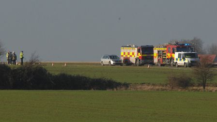 Helicopter Crash, Lancaster Way, Witchford,