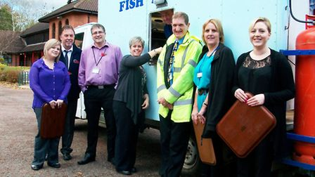 FPM hired a fish and chips van as a thankyou to Ashwell Court's residents for their patience