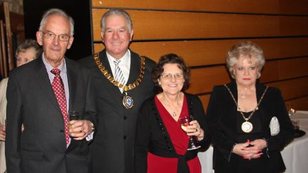 Some of the many guests at The Maltings, Ely, for the annual civic reception given by the chairman o