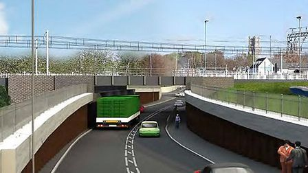An artist's impression of how an underpass could look